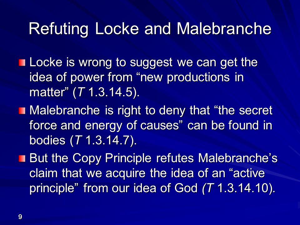 Refuting Locke and Malebranche