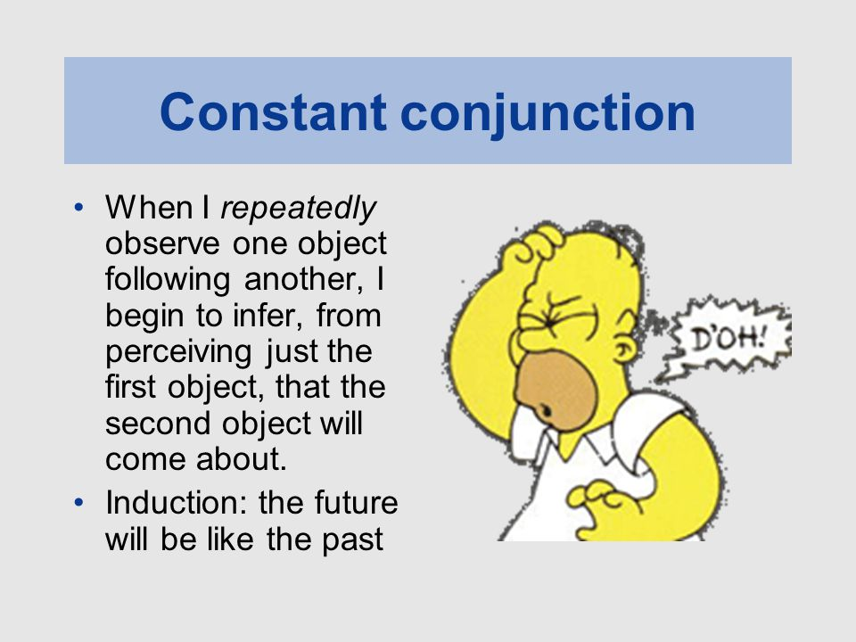 Constant conjunction