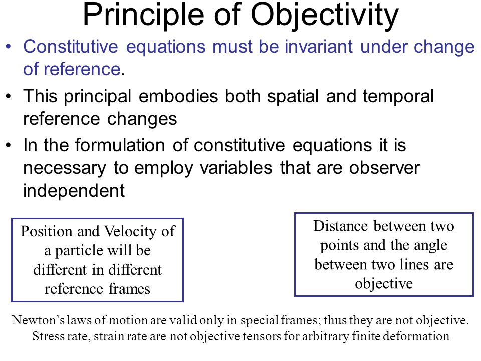 Principle of Objectivity
