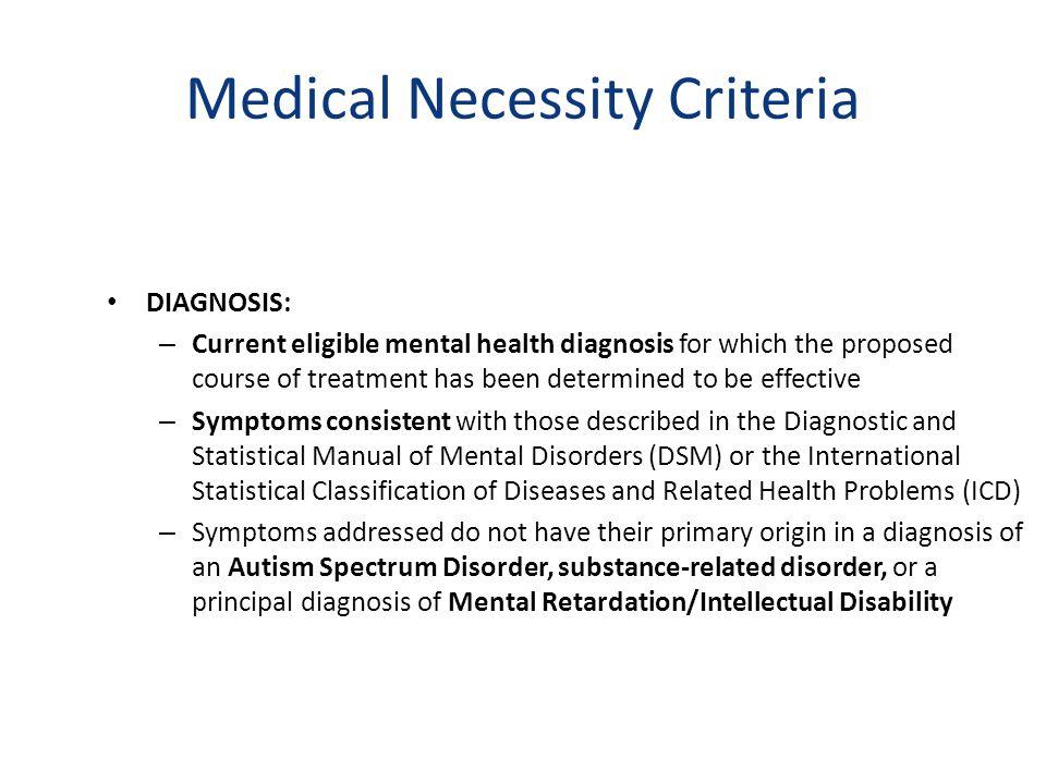 Medical Necessity Criteria