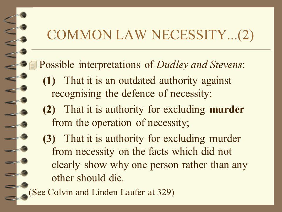 COMMON LAW NECESSITY...(2)