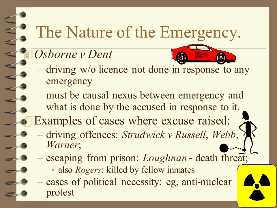 The Nature of the Emergency.
