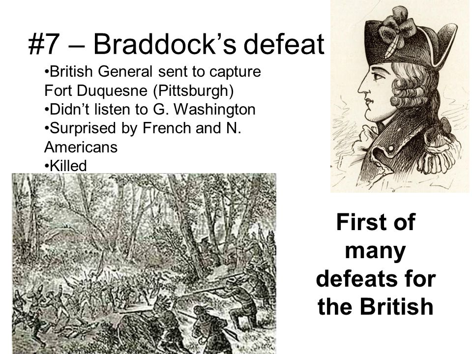 First of many defeats for the British