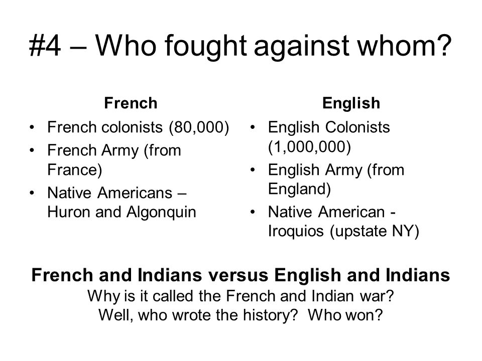 #4 – Who fought against whom