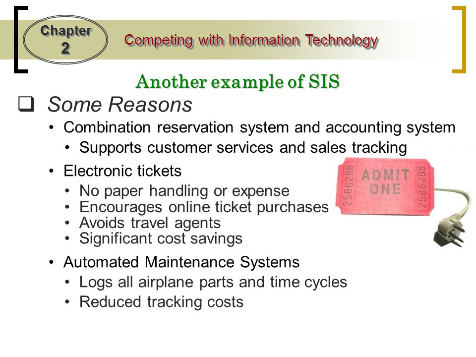 Some Reasons Another example of SIS