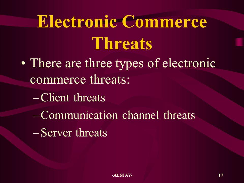 Electronic Commerce Threats