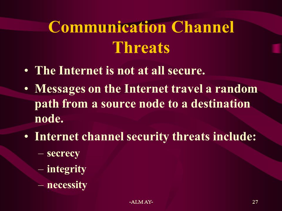 Communication Channel Threats
