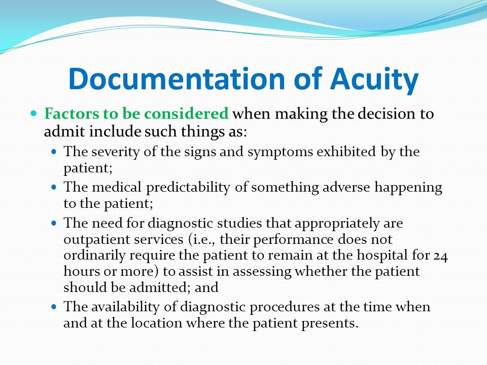 Documentation of Acuity