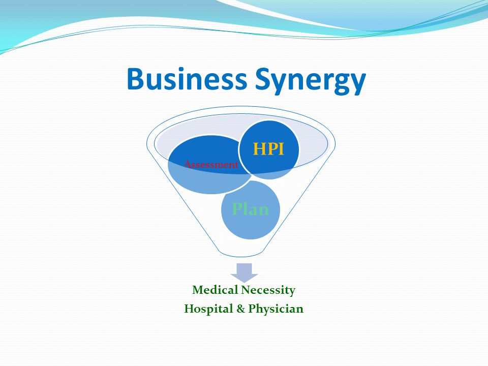 Business Synergy Medical Necessity Hospital & Physician Assessment HPI