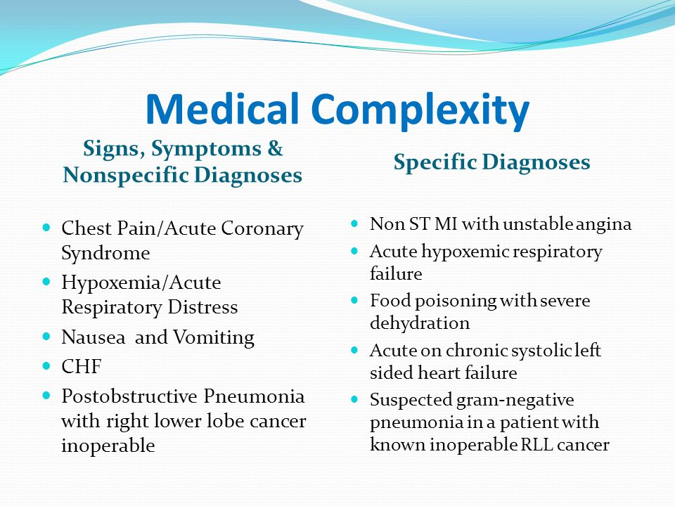 Signs, Symptoms & Nonspecific Diagnoses