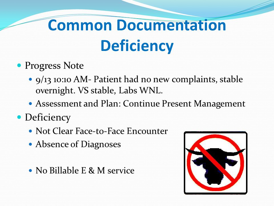 Common Documentation Deficiency