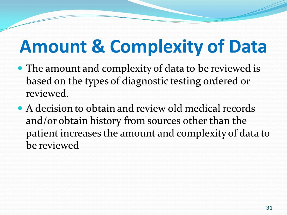 Amount & Complexity of Data