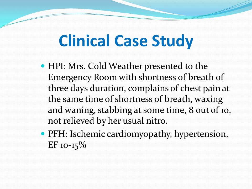 Clinical Case Study