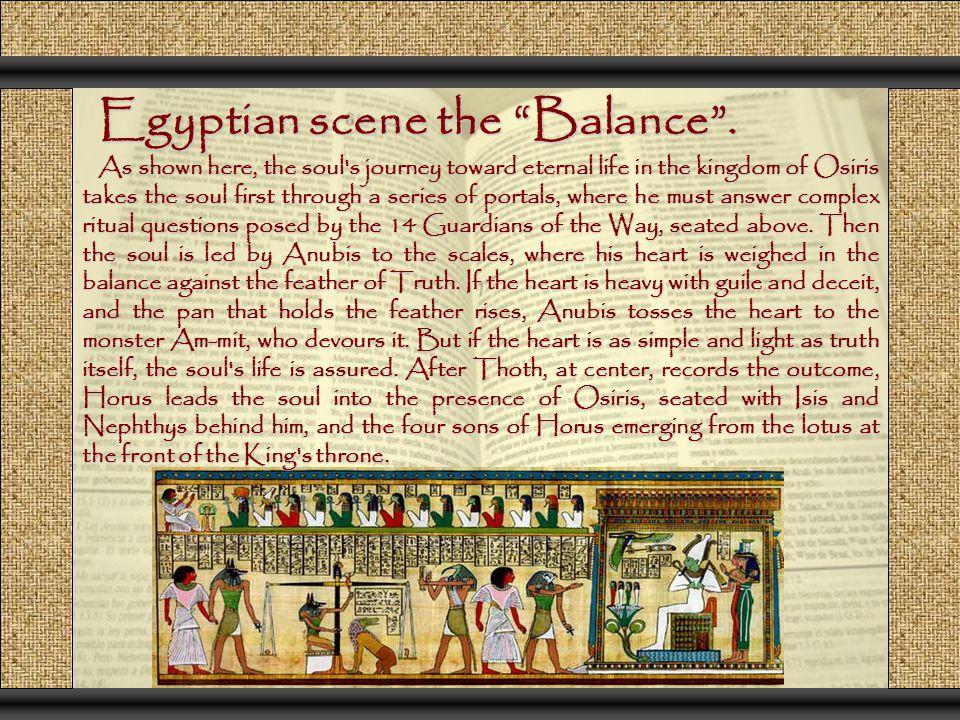 Egyptian scene the Balance .
