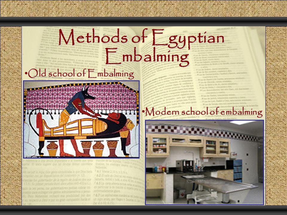 Methods of Egyptian Embalming