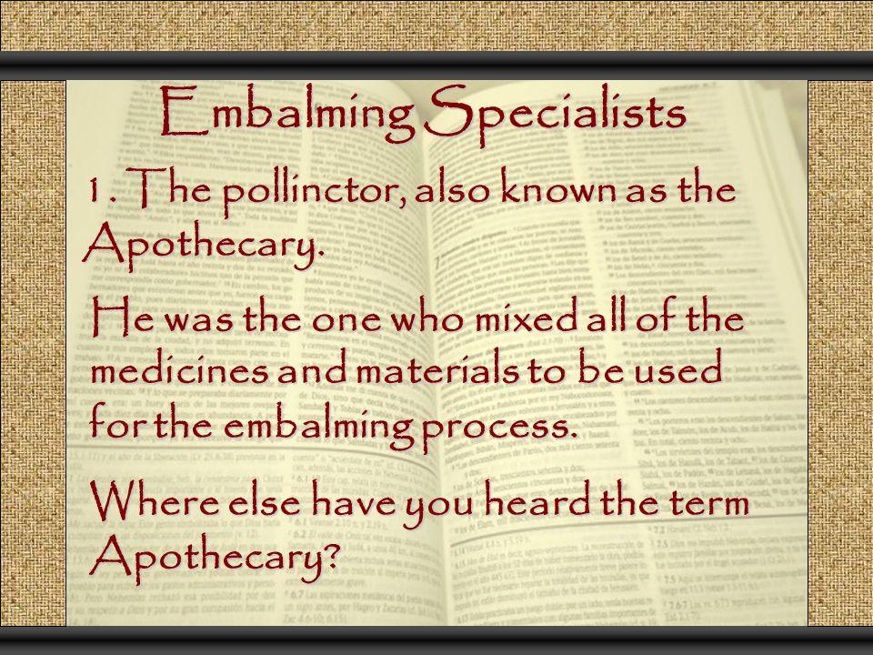 Embalming Specialists