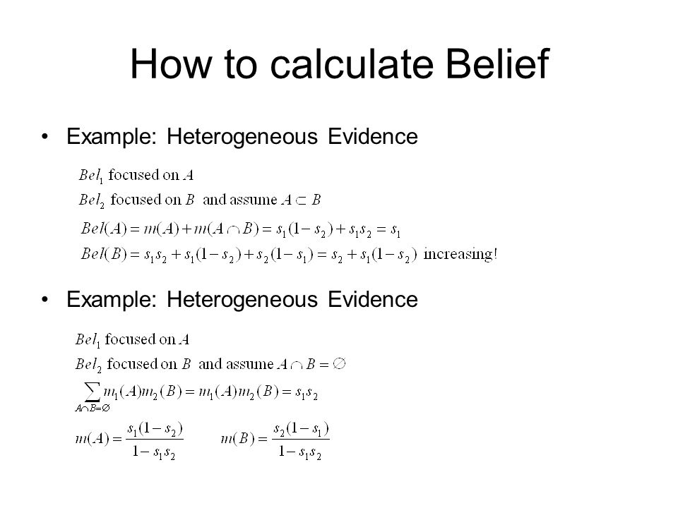 How to calculate Belief