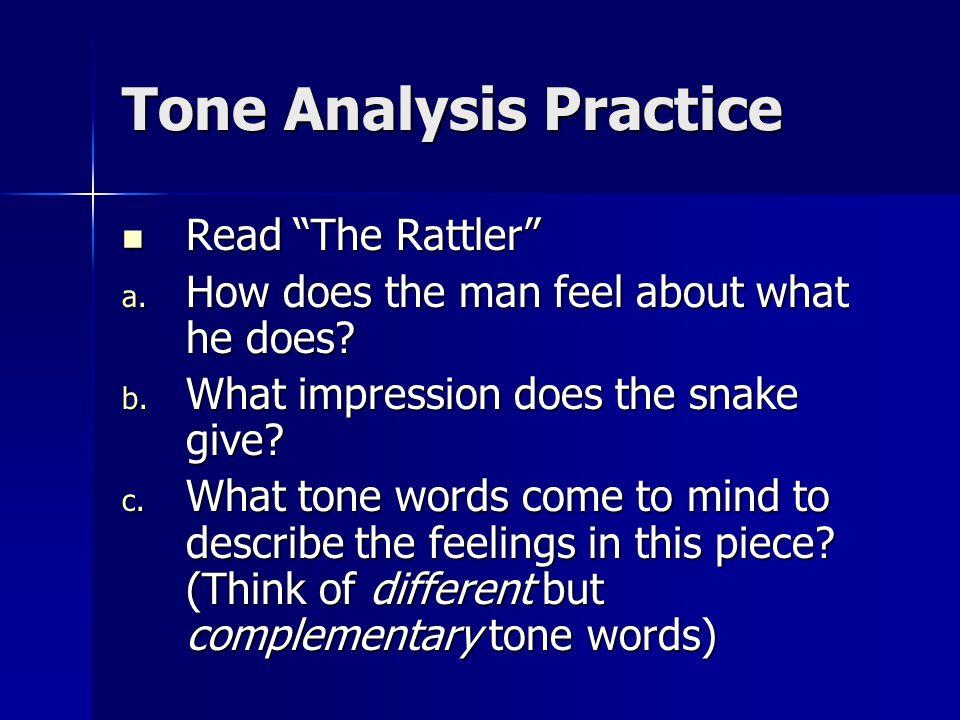 Tone Analysis Practice