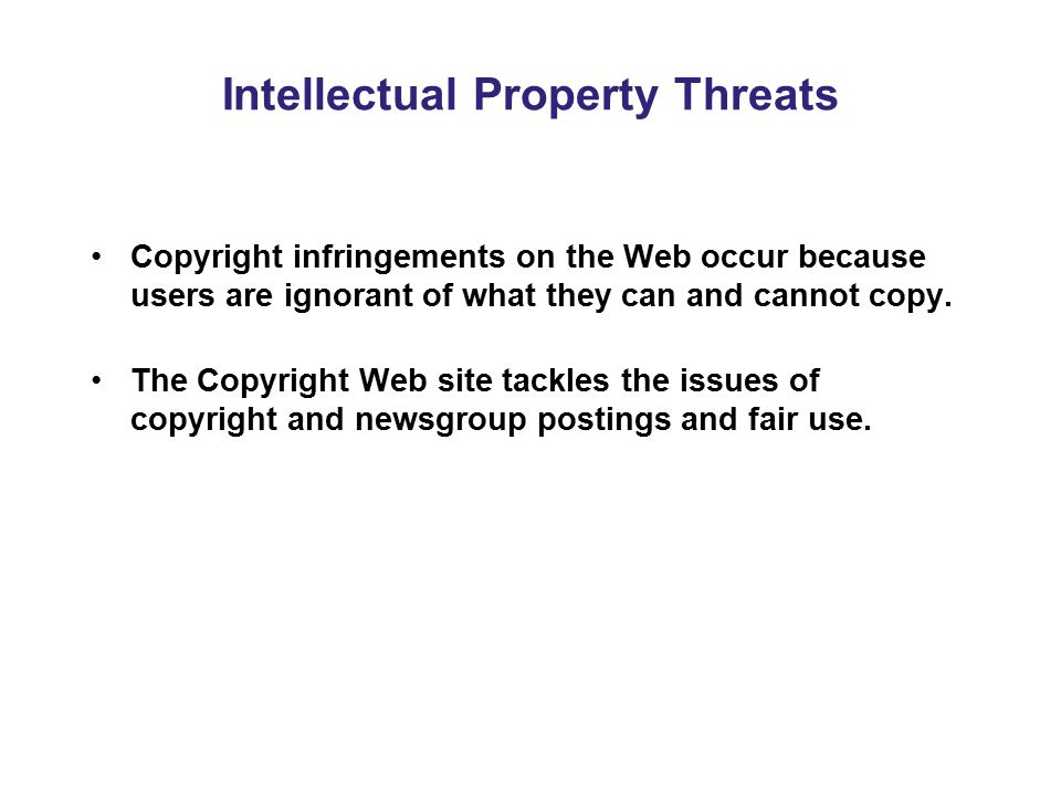 Intellectual Property Threats