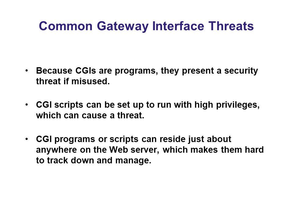 Common Gateway Interface Threats