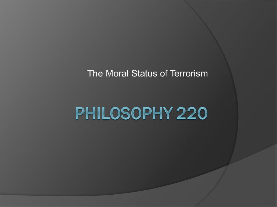 The Moral Status of Terrorism