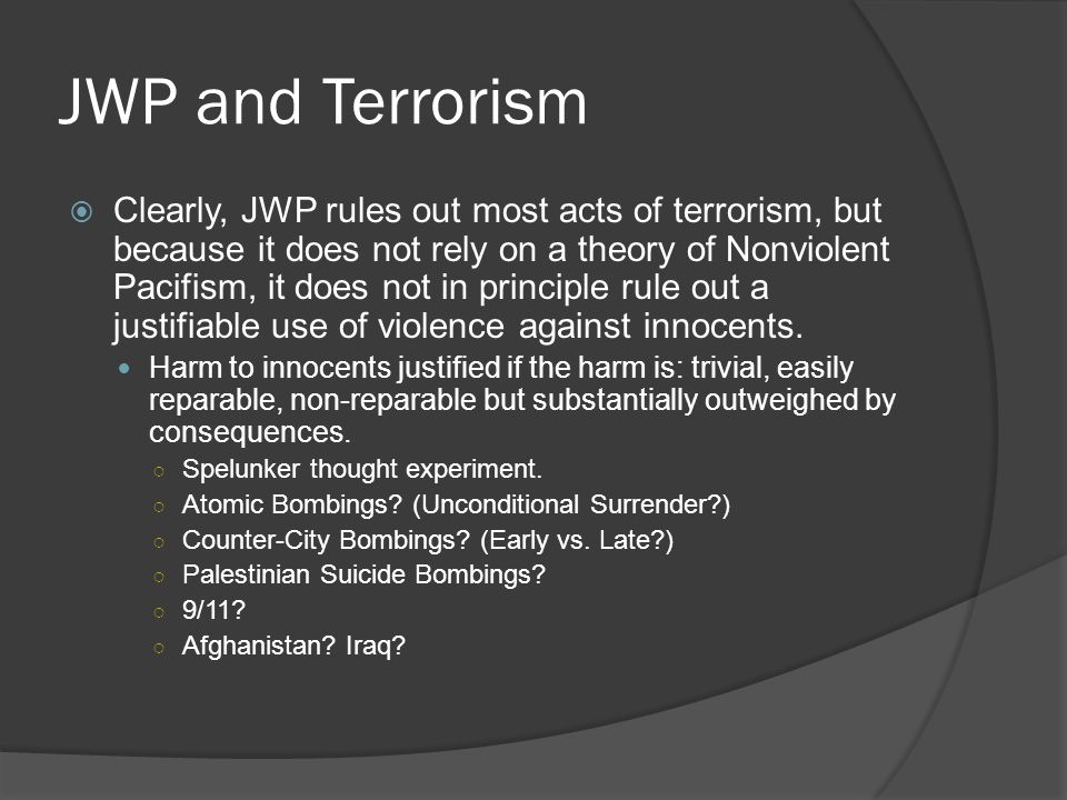 JWP and Terrorism