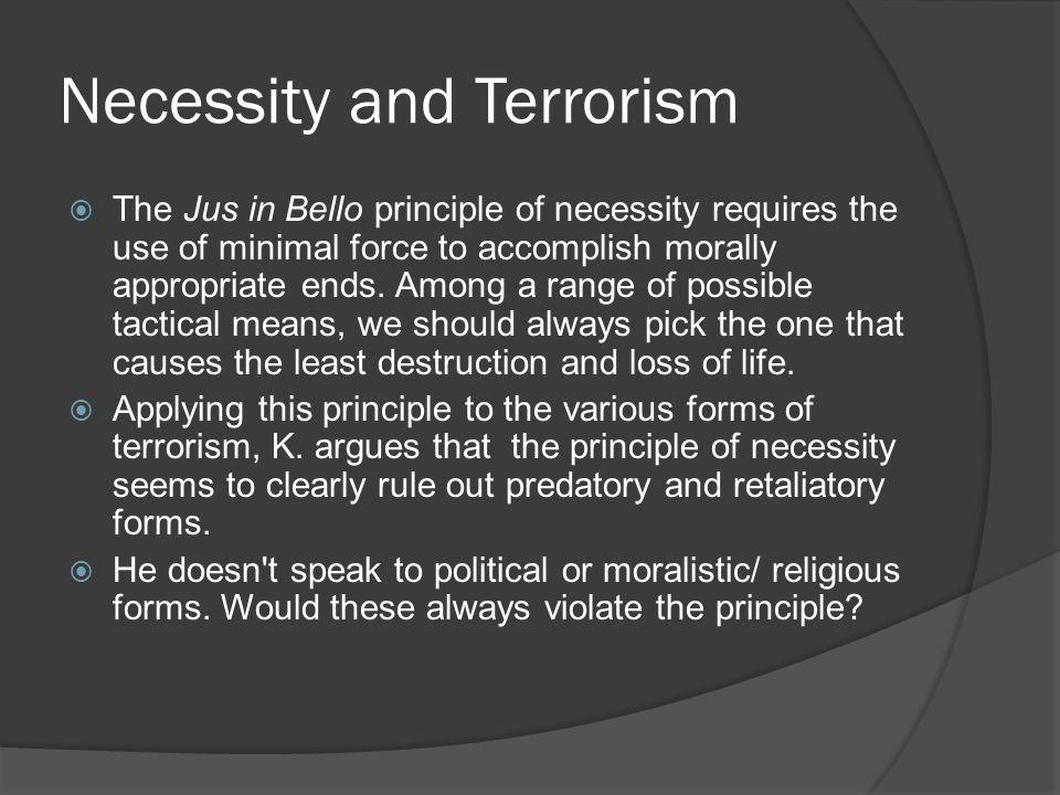 Necessity and Terrorism