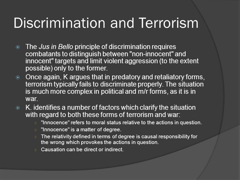 Discrimination and Terrorism