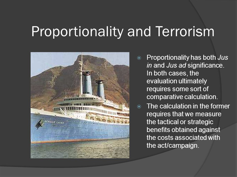 Proportionality and Terrorism