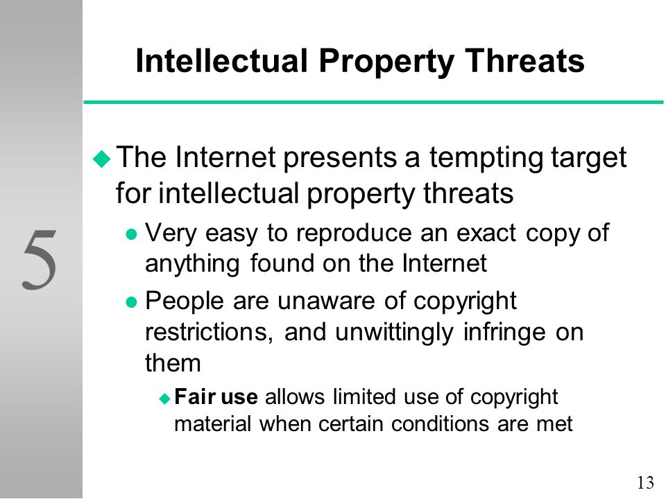 Intellectual Property Threats