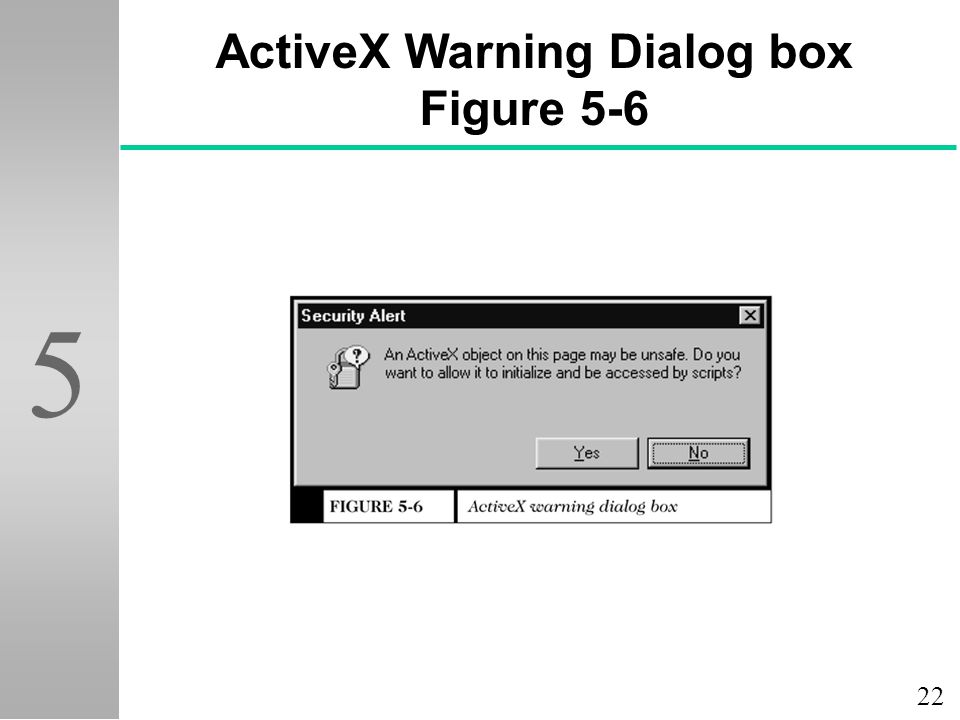 ActiveX Warning Dialog box