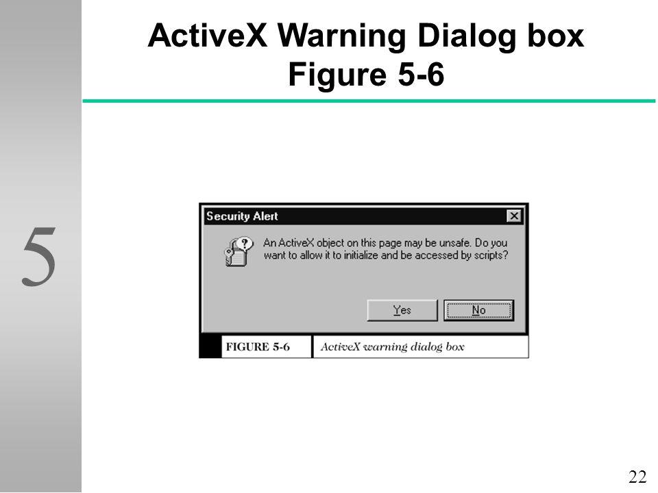 ActiveX Warning Dialog box