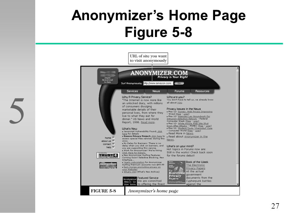 Anonymizer's Home Page