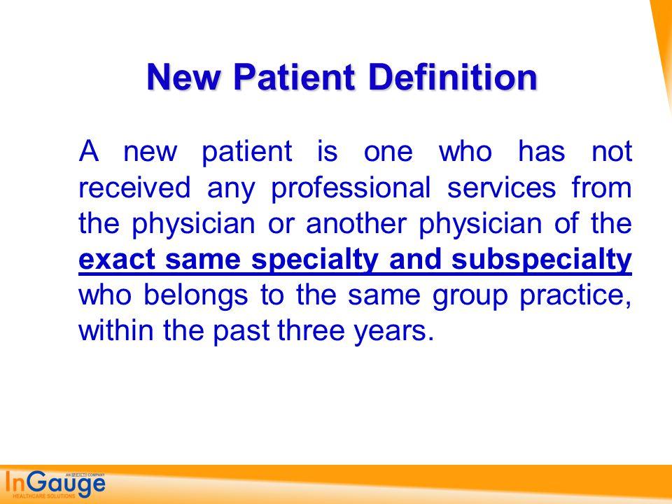 New Patient Definition