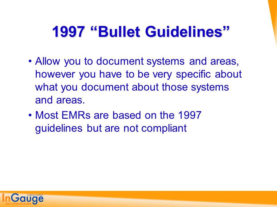 1997 Bullet Guidelines
