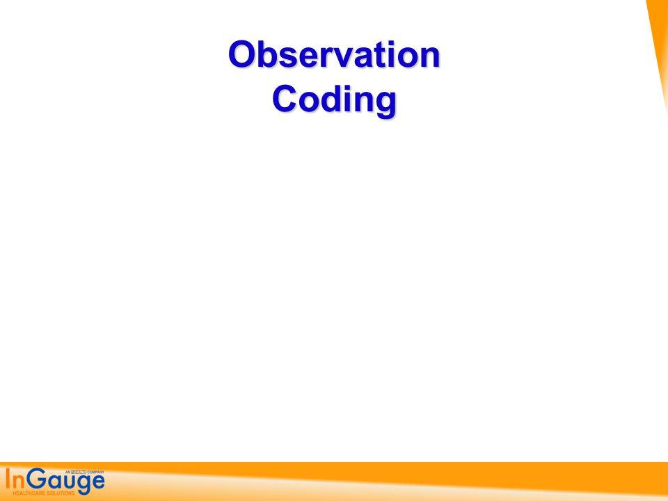 Observation Coding