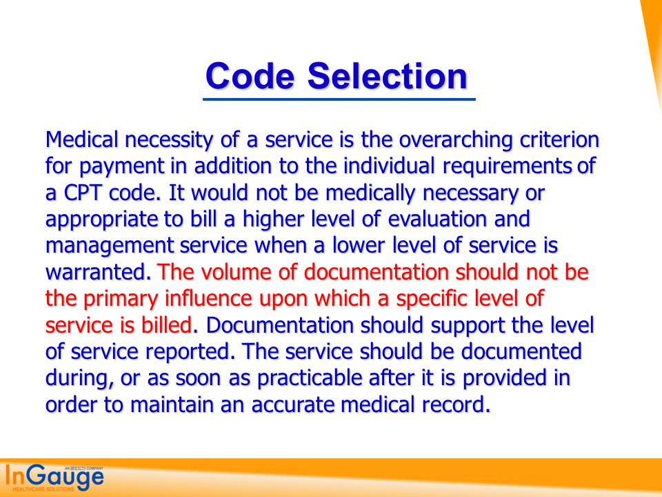 Code Selection