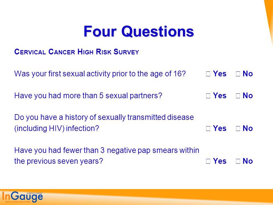 Four Questions Cervical Cancer High Risk Survey