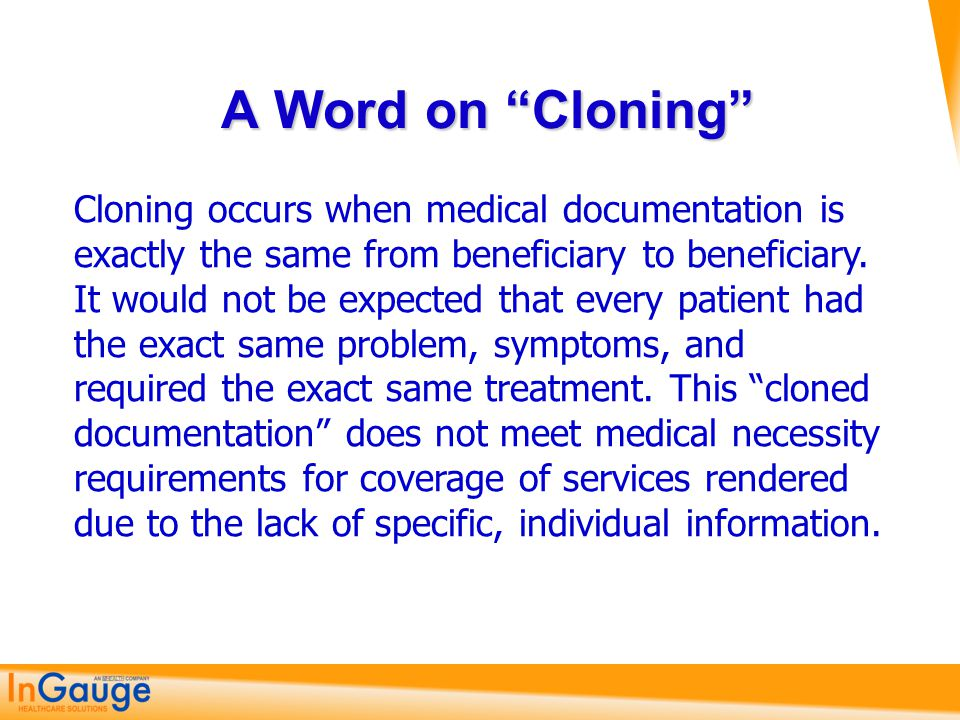 A Word on Cloning