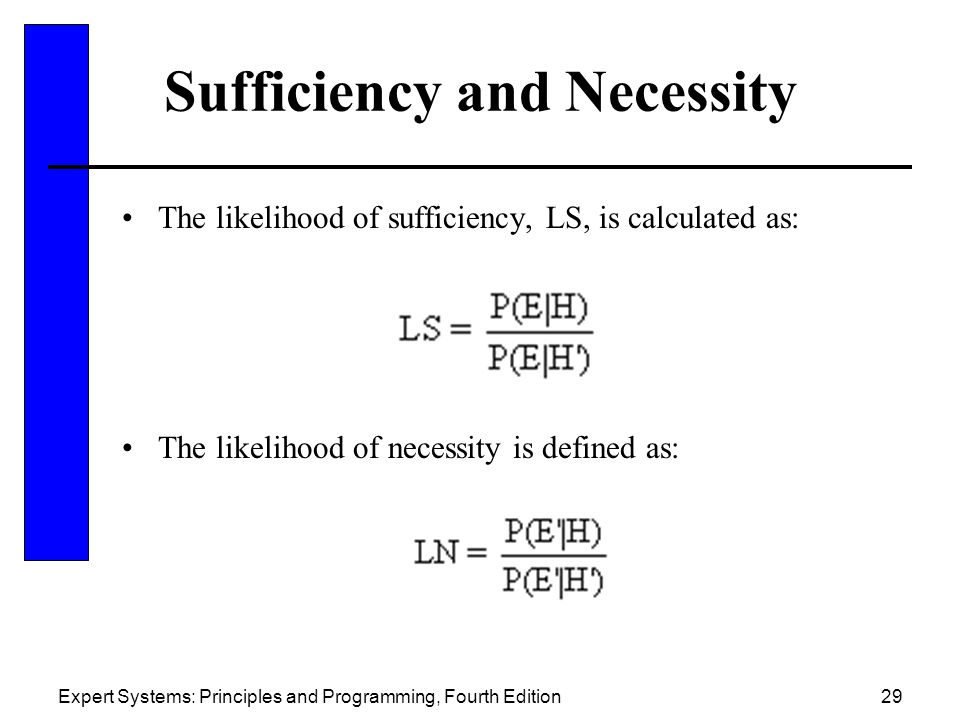 Sufficiency and Necessity