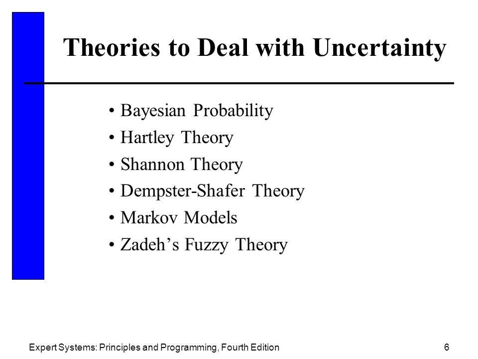 Theories to Deal with Uncertainty