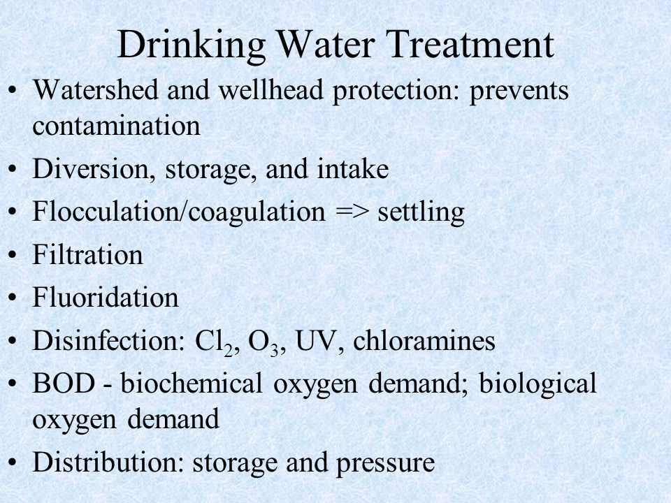 Drinking Water Treatment