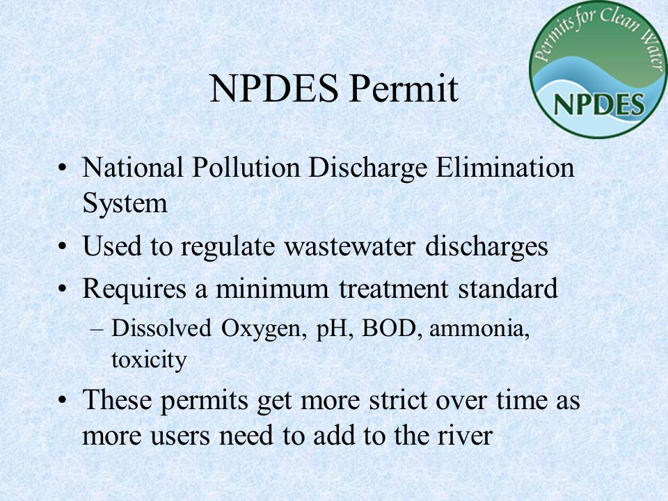 NPDES Permit National Pollution Discharge Elimination System