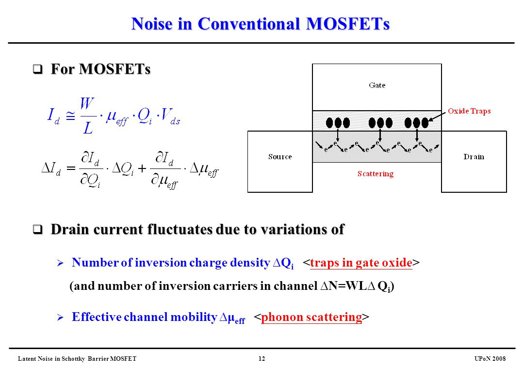 Noise in Conventional MOSFETs