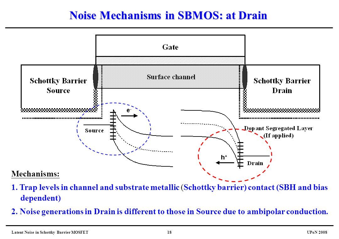 Noise Mechanisms in SBMOS: at Drain