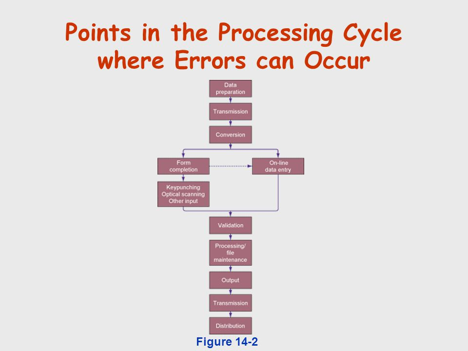 Points in the Processing Cycle where Errors can Occur