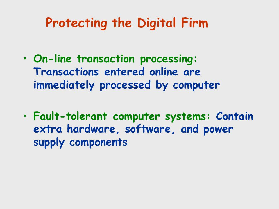 Protecting the Digital Firm