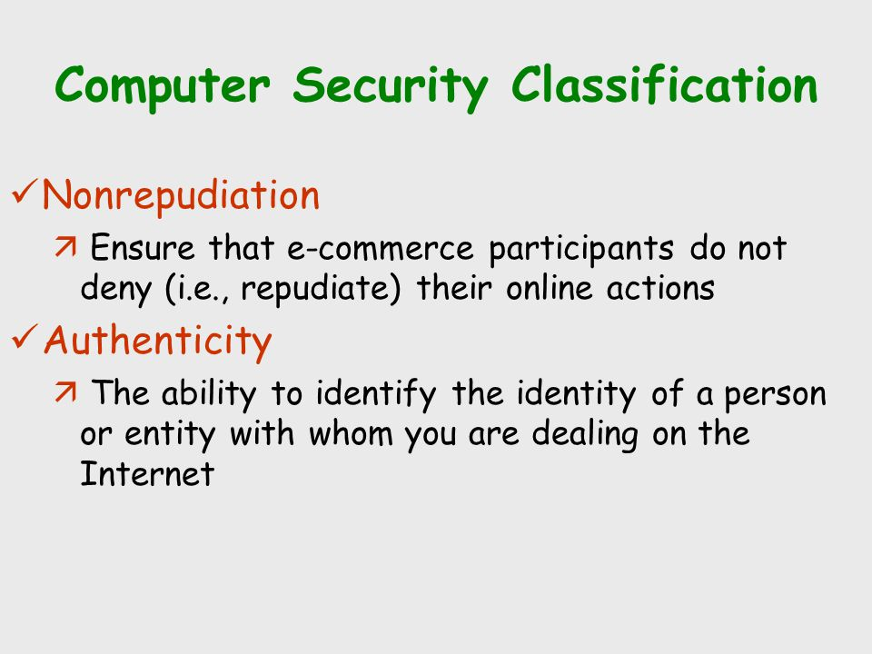 Computer Security Classification