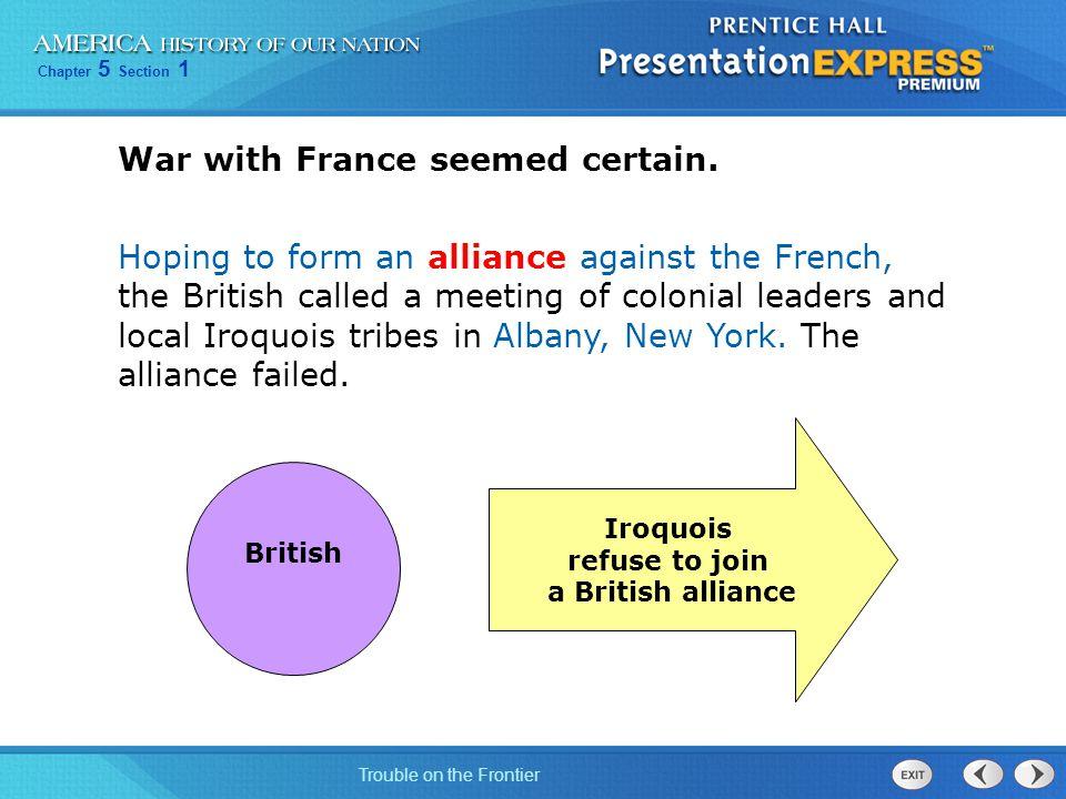 War with France seemed certain.