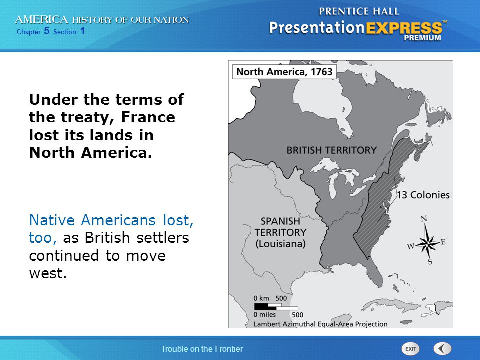 Under the terms of the treaty, France lost its lands in North America.